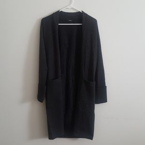 dark grey duster from Theory